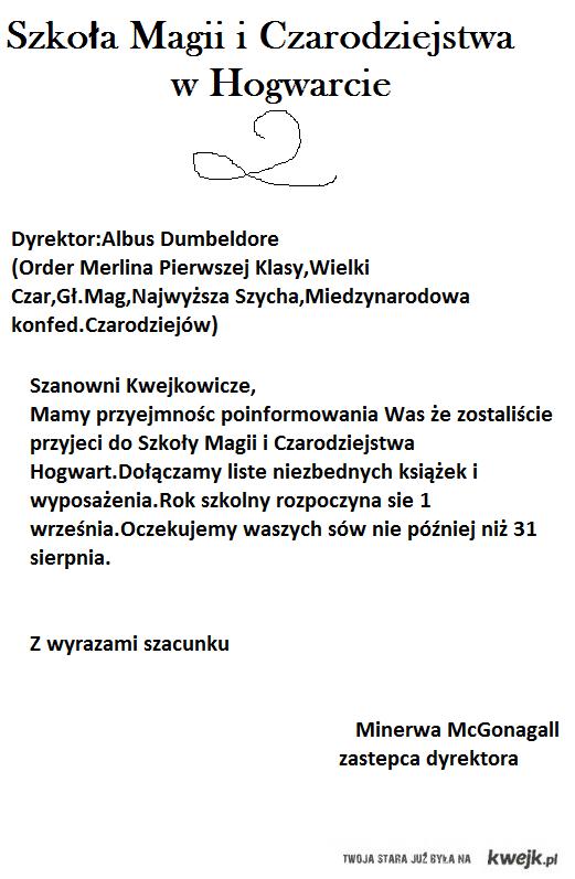 List do Kwejkowiczów z Hogwartu^^
