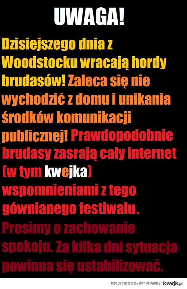 UWAGA WOODSTOCK