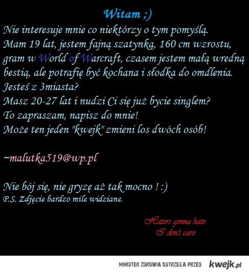 Ogłoszenie matrymonialne, kurde.