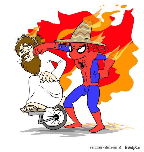 spiderman-bije-jezusa-noszac-sombrero-i-oboje-plona