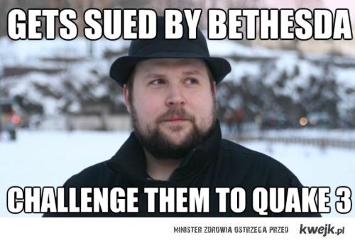 Zostan pozwany, zaproponuj mecz w Quake3