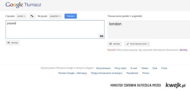 poznań - > LONDON