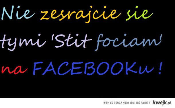 'Słit focie' na fejsbuku
