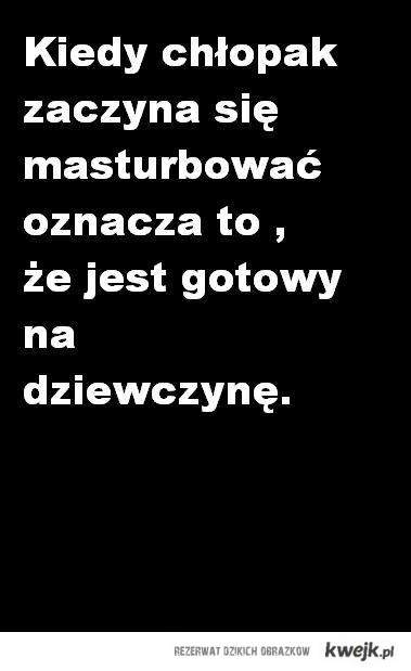 Chłopak i masturacja