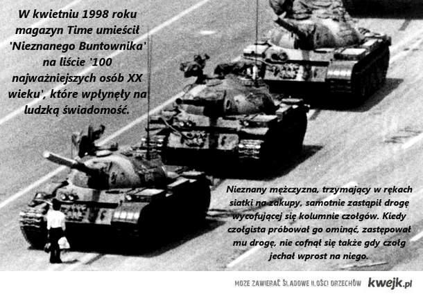 Tank Man - Nieznany Buntownik, Tiananmen Square