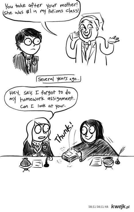 Lily i Snape na lekcji Eliksirów^^