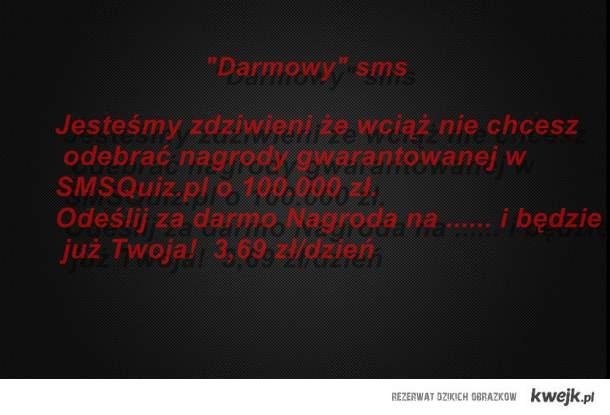 """""""Darmowy"""" sms i """"wygrana"""""""