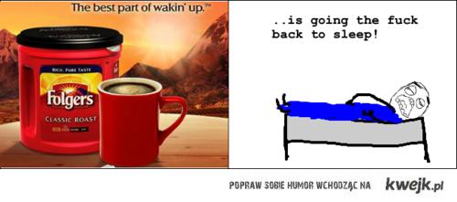 Kawa czy spanie
