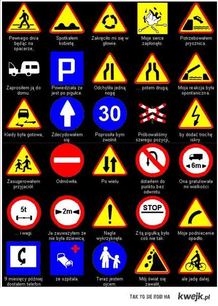 pamiętaj o znakach !