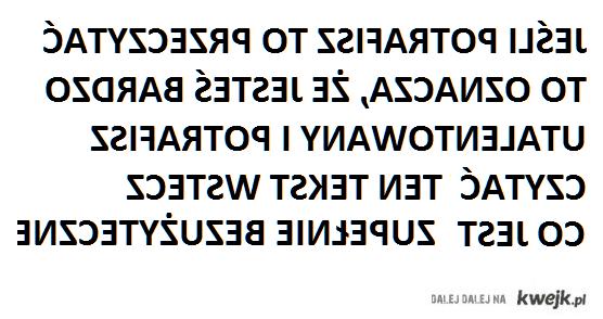 Tekst wstecz