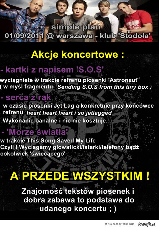 SIMPLE PLAN w Warszawie