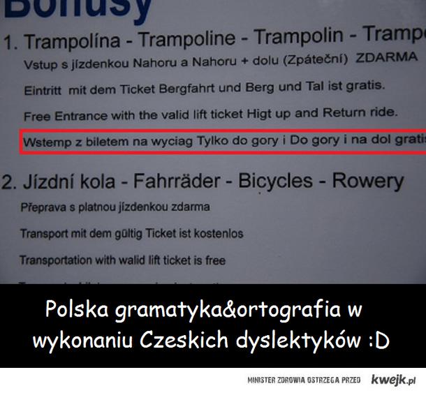 Polska gramatyka&ortografia w wykonaniu Czeskich dyslektyków :D