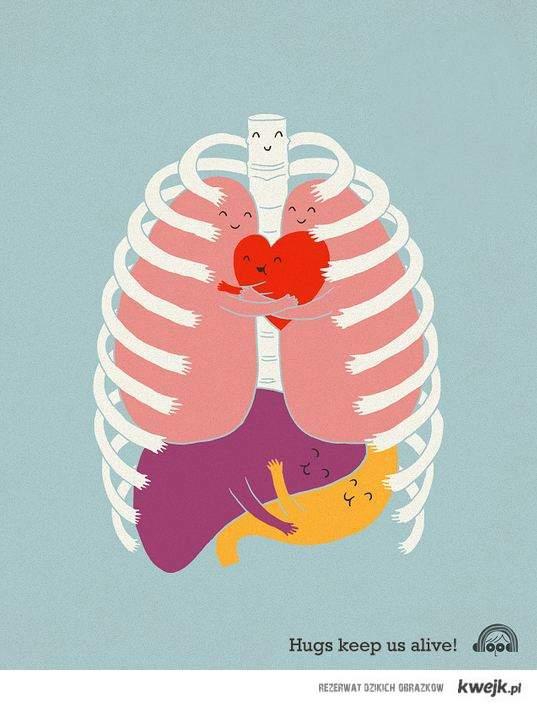 hugs keeps us alive