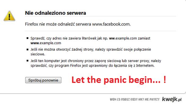 panika facebook