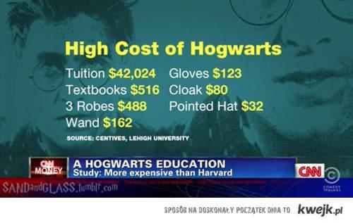 hogwart droższy od harwardu :O