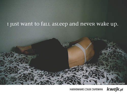 Zasnąć.