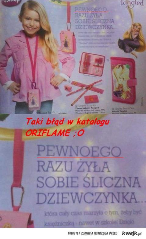 błąd w katalogu ORIFLAME ;o