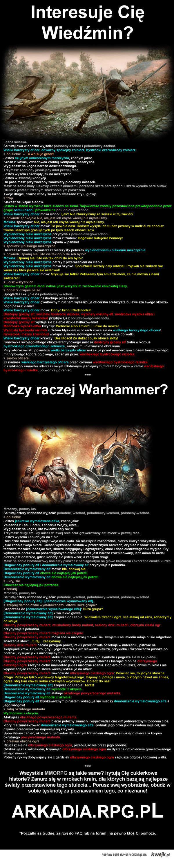 Świetna gra! Wiedźmin i Warhammer!