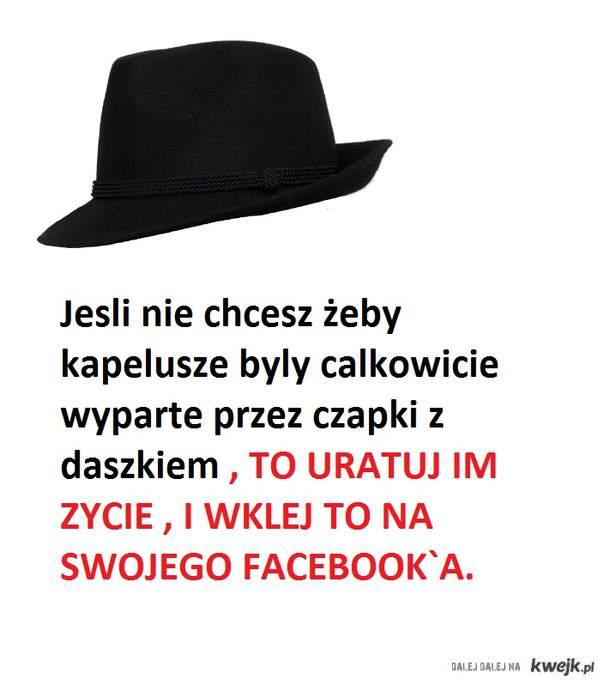 Jesli lubicie kapelusze to ratujmy im zycie !!!