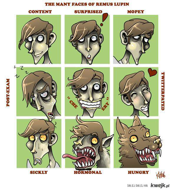 Many faces of Remus Lupin