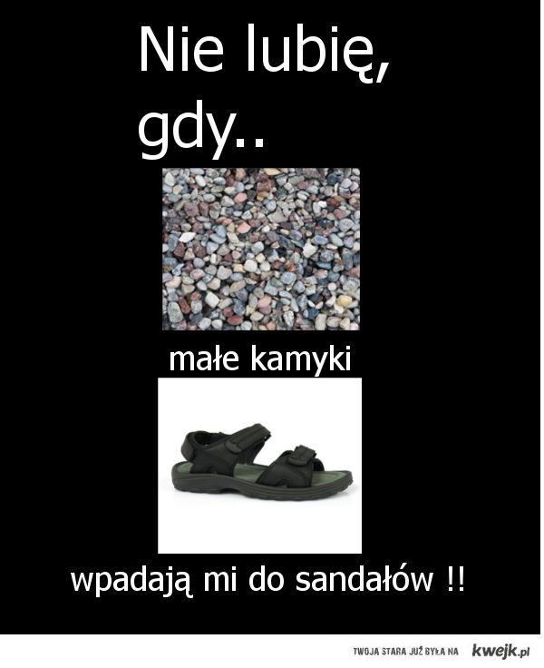 kamyki do sandałów