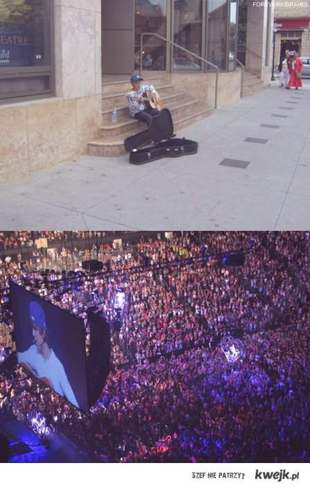 From singing in front of the Avon Theater , To having MILLIONS of fans and concerts all over the world ♥