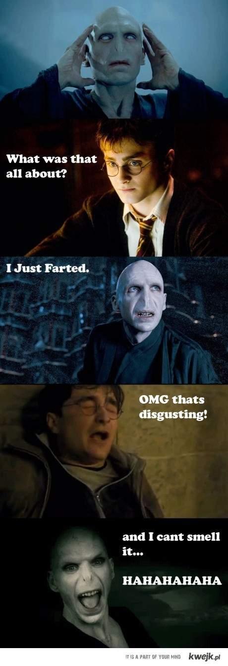 przejmujący dialog pełen akcji w Harrym Potterze