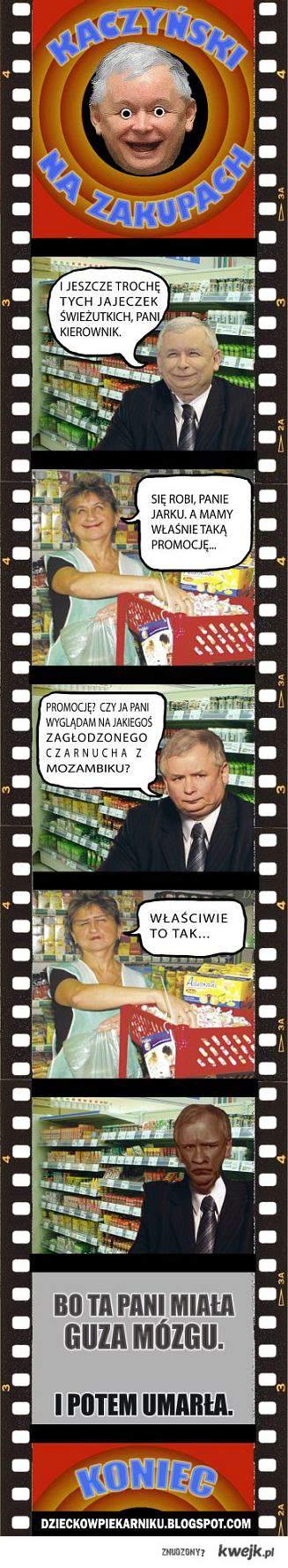 Kaczyński na zakupach