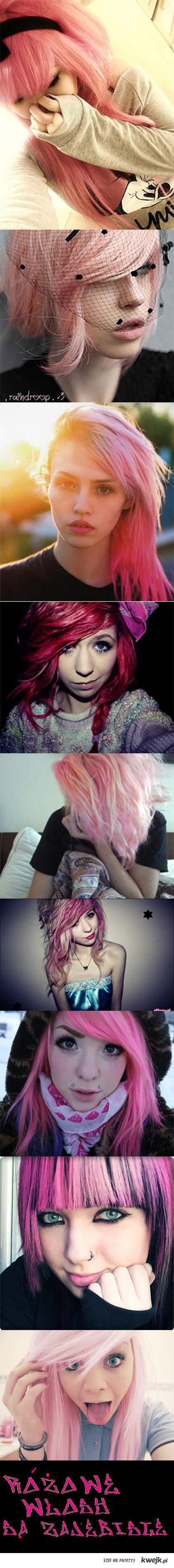 Różowe włosy są zajebiste