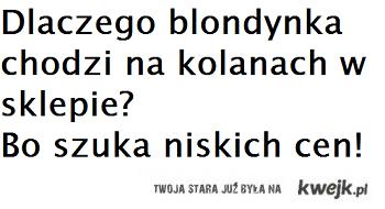 Kawał o Blondynce