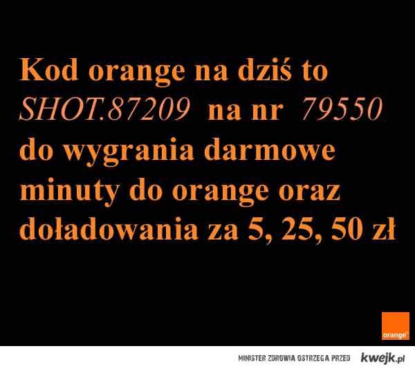 Kod z orange na dziś !