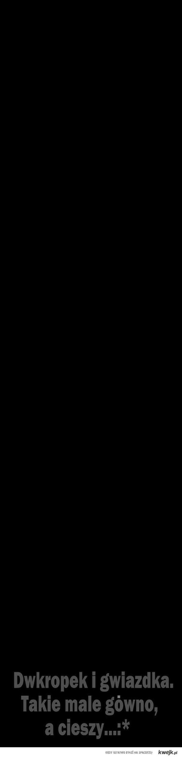 dwukropek i gwiazdka