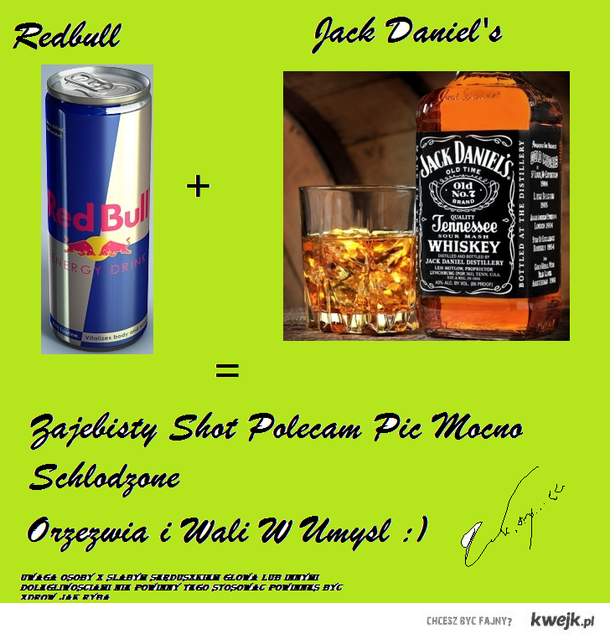 Shot Redbull + Jack Daniels