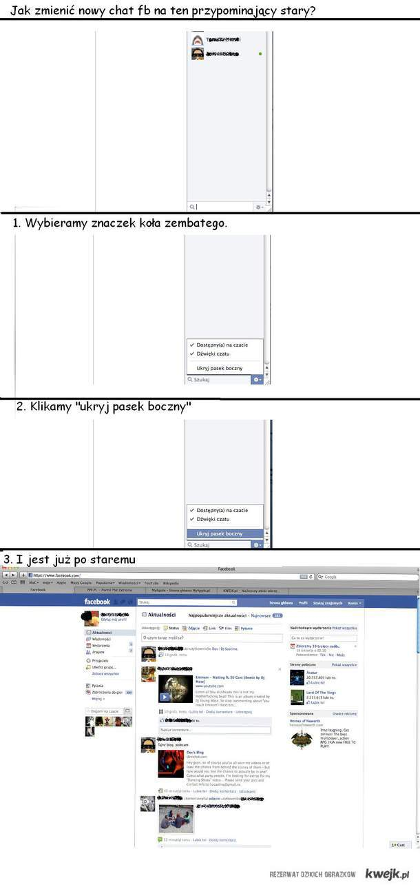 Stary chat facebook