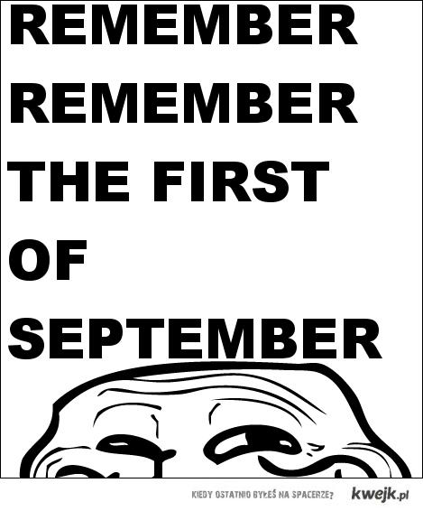 Remember remember...