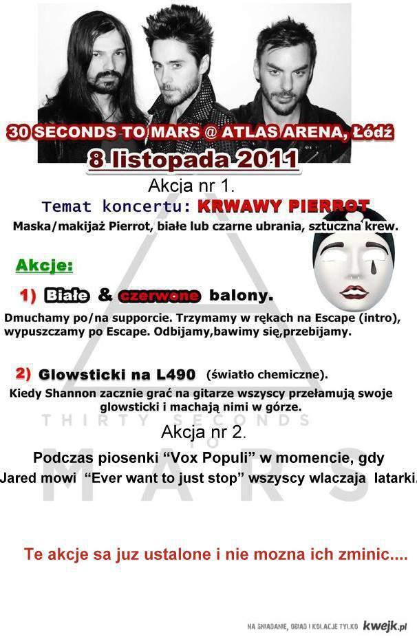 Akcja na koncert 30STM !!! Serdecznie proszę o rozpowszechnienie tych akcji :)