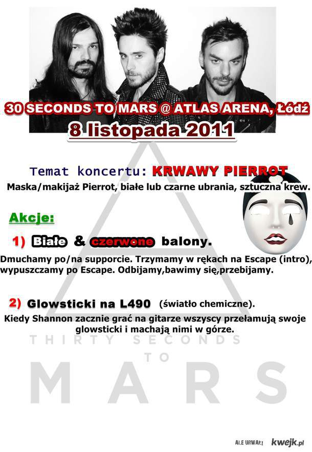 AKCJA 30 SECONDS TO MARS IN POLAND