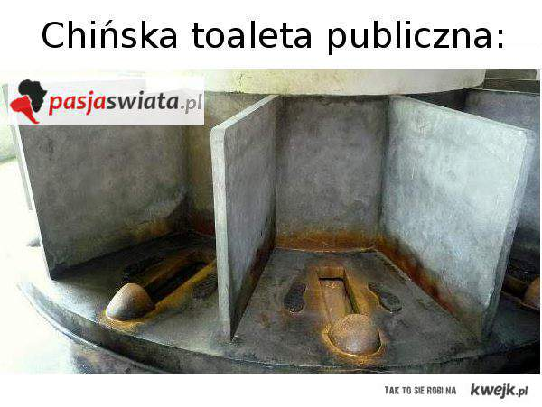 Chińska toaleta publiczna