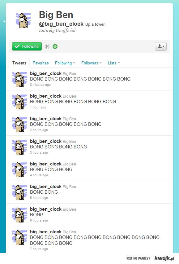 Big Ben's Twitter