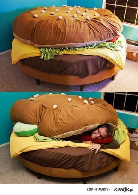 Hamburger do spania ;D