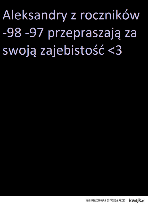 Aleksandry <3