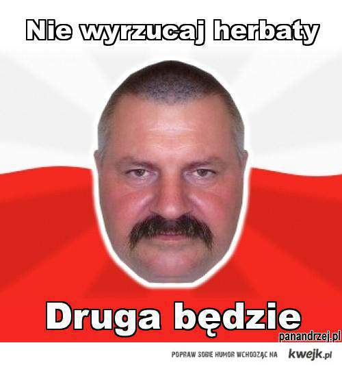 Pan Andrzej z herbatą