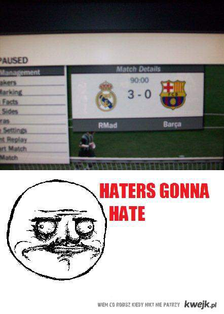 fifa real win = haters gonna hate