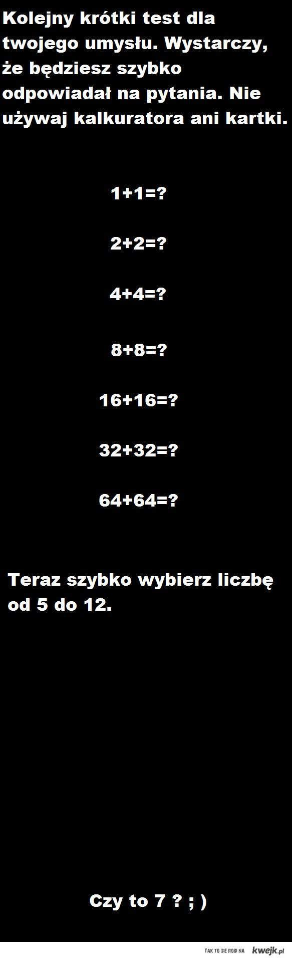 Test dla Ciebie !