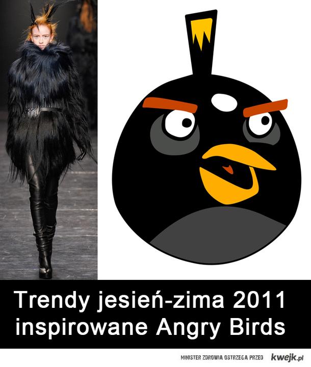 Trendy jesień-zima 2011 inspirowane Angry Birds