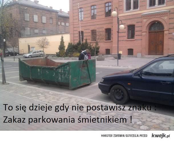 Parkowanie śmietnika