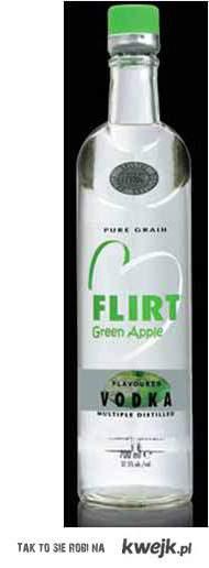 vodka flirt green apple