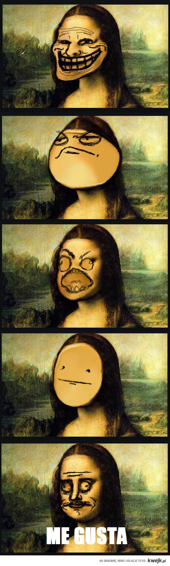 mona lisa faces