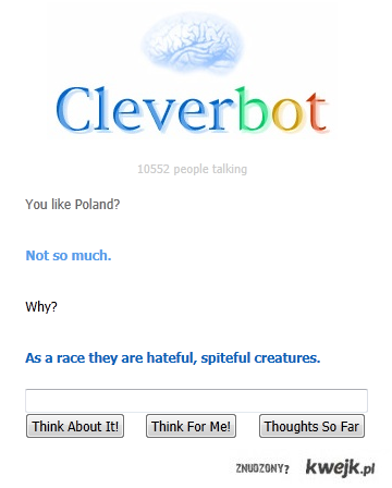 Cleverbot o Polsce
