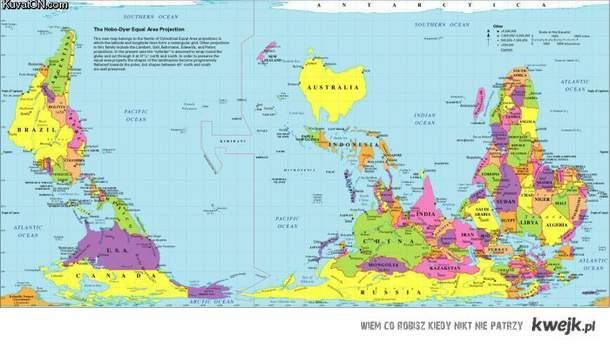 mapa świata w australijskich szkołach